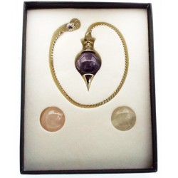 Quartz and Amethyst Interchangeable Pendulum