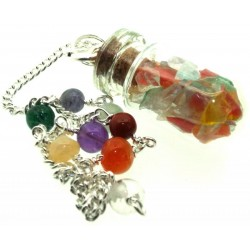 Andara Glass Capsule Bottle Chakra Pendulum
