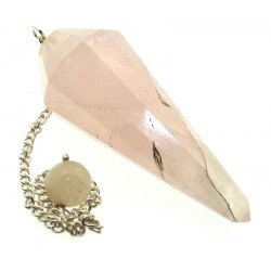 Rose Quartz Gemstone Terminated Pendulum