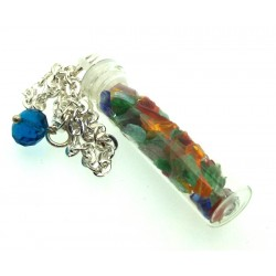 Andara Glass Bottle Chakra Pendulum