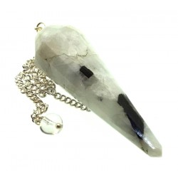 Rainbow Moonstone Gemstone Terminated Pendulum