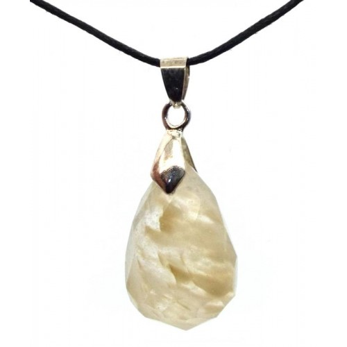 Angels Breath Andara Crystal Faceted Teardrop Pendant