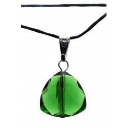 Triangular Green Andara Crystal Pendant