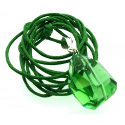 Random Faceted Emerald Green Andara Crystal Pendant