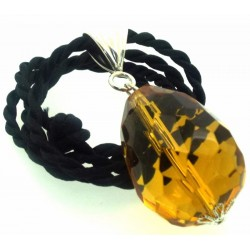 Large Faceted Egg Sunset Andara Crystal Pendant