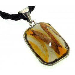 Ethereal Celestial Spirit Amber Andara Crystal Pendant