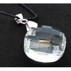 Round Faceted Cosmic Ice Andara Crystal Pendant