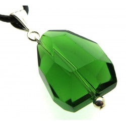 Large Random Faceted Atlantean Green Andara Crystal Pendant