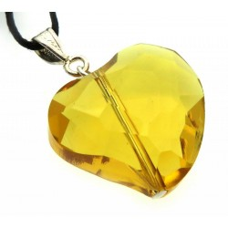 Heart Shaped Sunset Andara Crystal Pendant