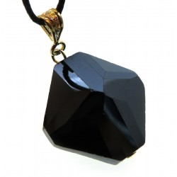 Diamond Sacred Black Andara Crystal Pendant