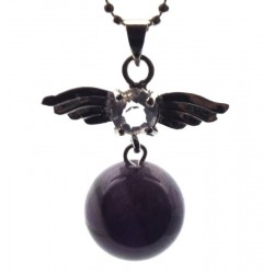 Angel Inspired Amethyst Gemstone Pendant