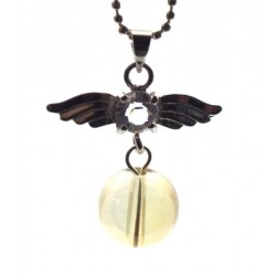 Angel Inspired Golden Aura Gemstone Pendant