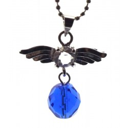 Angel Inspired Siberian Blue Quartz Gemstone Pendant