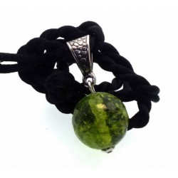 16mm Siberian Green Quartz Gemstone Sphere Pendant
