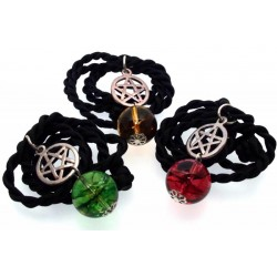 16mm Coloured Quartz Gemstone Sphere Pentacle Pendant