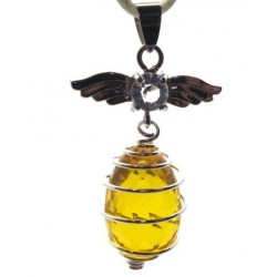 Angel Spiral Sunset Andara Crystal Pendant