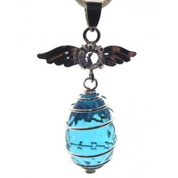 Angel Spiral Turquoise Andara Crystal Pendant