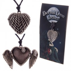 Eternal Love Angel Wings Locket Pendant
