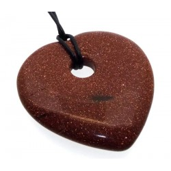 Goldstone Smooth Heart Pendant