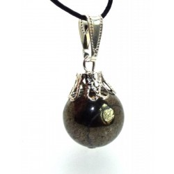 14mm Pyrite Sphere Pendant