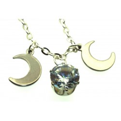 Triple Moon Swarovski Bling Pendant