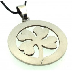 Stainless Steel Lucky Four Leaf Clover Pendant