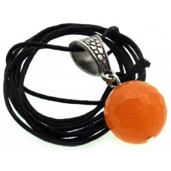 14mm Orange Calcite Gemstone Sphere Pendant