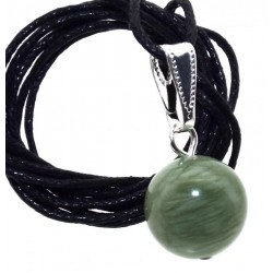12mm Jade Gemstone Sphere Pendant