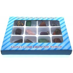 Box of 12 Assorted Gemstone Pendants