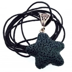 Small Natural Green Volcanic Lava Rock Star Pendant