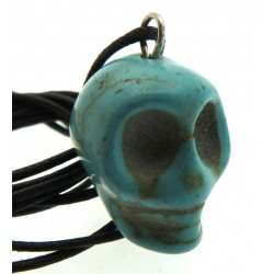 Coloured Turquoise Stone Skull Pendant