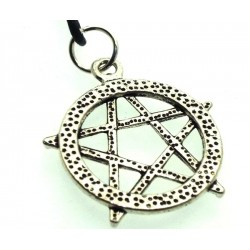 Silver Plated Pentacle Pendant