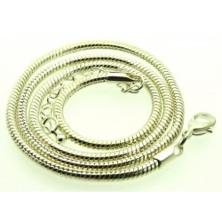 18 Inch Silver Plated Snake Chain for Pendants
