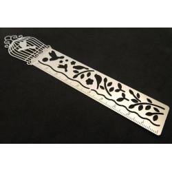 Stainless Steel Bird Cage Stencil Ruler