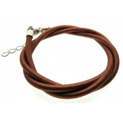 17 Inch Light Brown Cord Necklace for Pendants