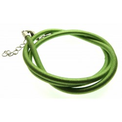 17 Inch Light Green Cord Necklace for Pendants