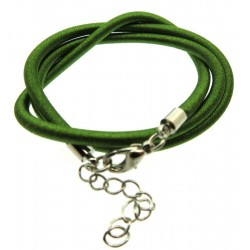 17 Inch Green Cord Necklace for Pendants