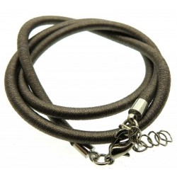 17 Inch Grey Cord Necklace for Pendants