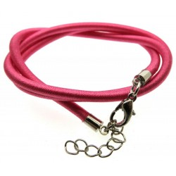 17 Inch Dark Pink Cord Necklace for Pendants