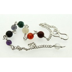 Chakra Gemstone Chain for Pendulums or Jewellery