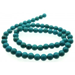 16 inch 6 mm Round Sinkiang Turquoise Bead String