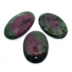 Single Ruby Zoisite Gemstone Cabochon