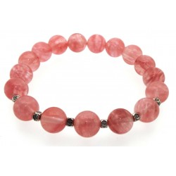 10mm Cherry Quartz Power Bracelet