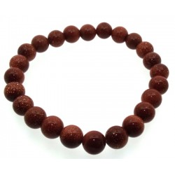 8mm Goldstone Gemstone Power Bracelet