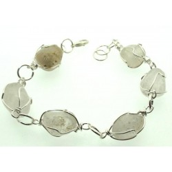 Wired Clear Quartz Gemstone Bracelet