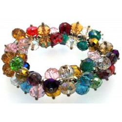 Large Chakra Crystal Statement Bracelet