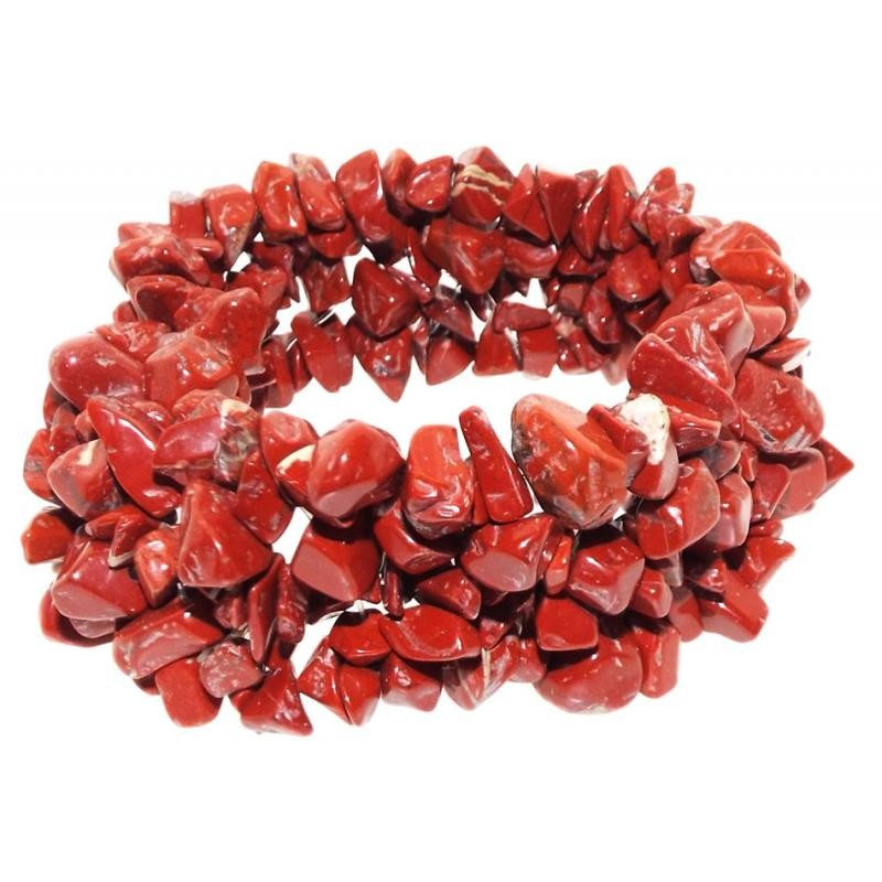 sandalwood red string of en rudraksha jasper beads stone tumble gem gemstone picture