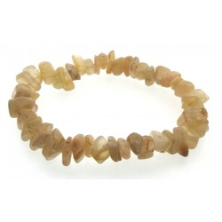 Indian Moonstone Gemstone Premium Chip Bracelet