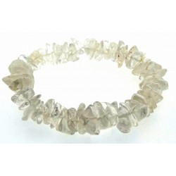 Clear Quartz Gemstone Premium Chip Bracelet