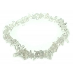 Clear Quartz Gemstone Chip Bracelet